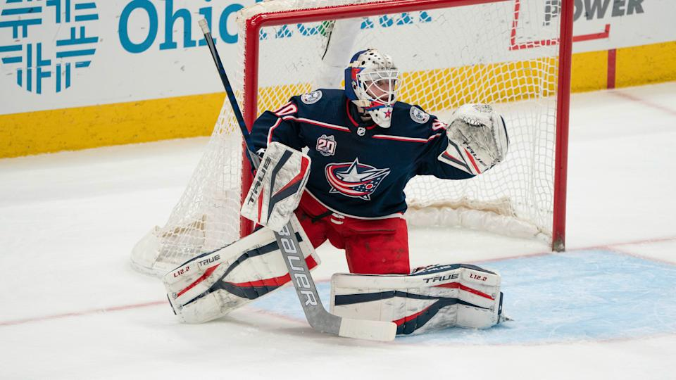 Columbus Blue Jackets goaltender Matiss Kivlenieks died in a tragic fireworks accident on July 4. (Jason Mowry/Icon Sportswire via Getty Images)