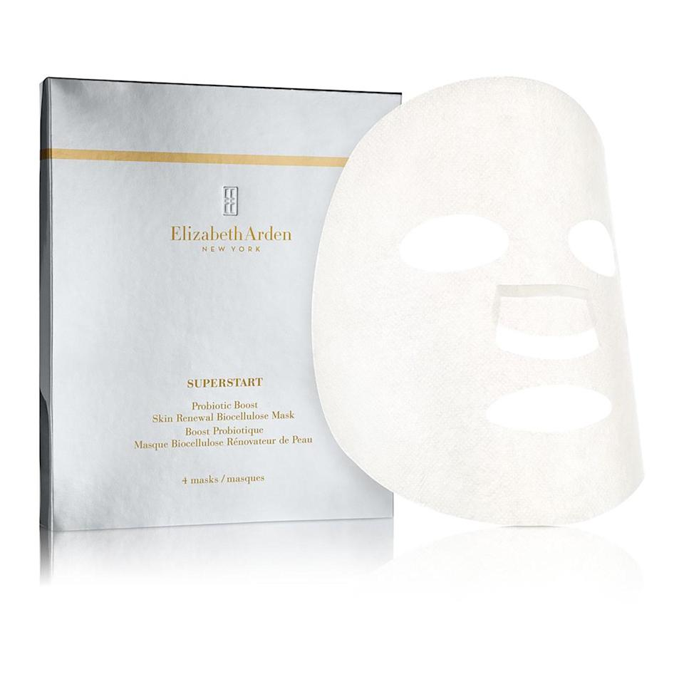 "<p>For the days your skin feels just... meh, Elizabeth Arden's Probiotic Boost Mask's smoothing ceramides and plumping sodium hyaluronate breathe life right back into it.</p> <p><strong>$67 for four masks</strong> (<a href=""http://www.elizabetharden.com/elizabeth-arden-superstart-skin-renewal-booster-1001STAN40001.html?cgid=skin-renewing-booster"" rel=""nofollow noopener"" target=""_blank"" data-ylk=""slk:Shop Now"" class=""link rapid-noclick-resp"">Shop Now</a>)</p>"