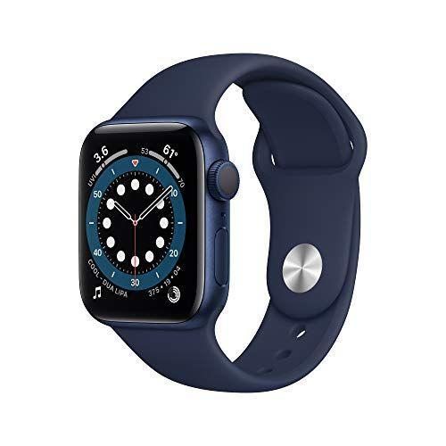 """<p><strong>Apple</strong></p><p>amazon.com</p><p><strong>$384.00</strong></p><p><a href=""""https://www.amazon.com/dp/B08J5XF5SR?tag=syn-yahoo-20&ascsubtag=%5Bartid%7C10063.g.34680247%5Bsrc%7Cyahoo-us"""" rel=""""nofollow noopener"""" target=""""_blank"""" data-ylk=""""slk:Shop Now"""" class=""""link rapid-noclick-resp"""">Shop Now</a></p><p>The Apple Watch fits the lifestyle of the working professional to the athlete. Stand out with their new color, Pacific Blue, exclusively for the Series 6. It's completely customizable from choosing what notifications you receive, selecting the clock face from many lovely designs and a watch strap that fits your style best. </p>"""