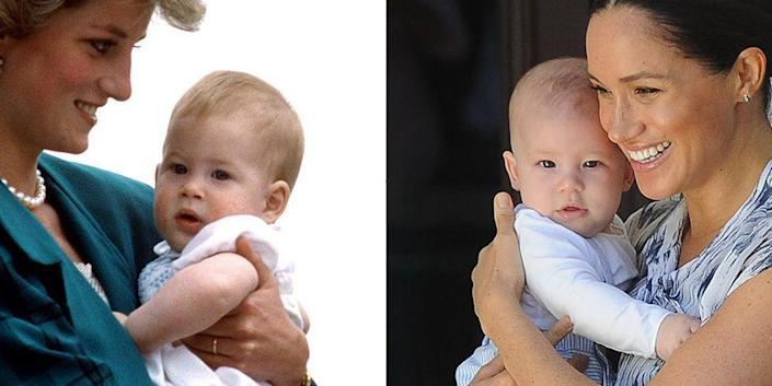 <p>Prince Harry's son attended his first official royal engagement while in South Africa for his parent's royal tour, and people can't get over how similar the two royals look at just 6 months old. </p>