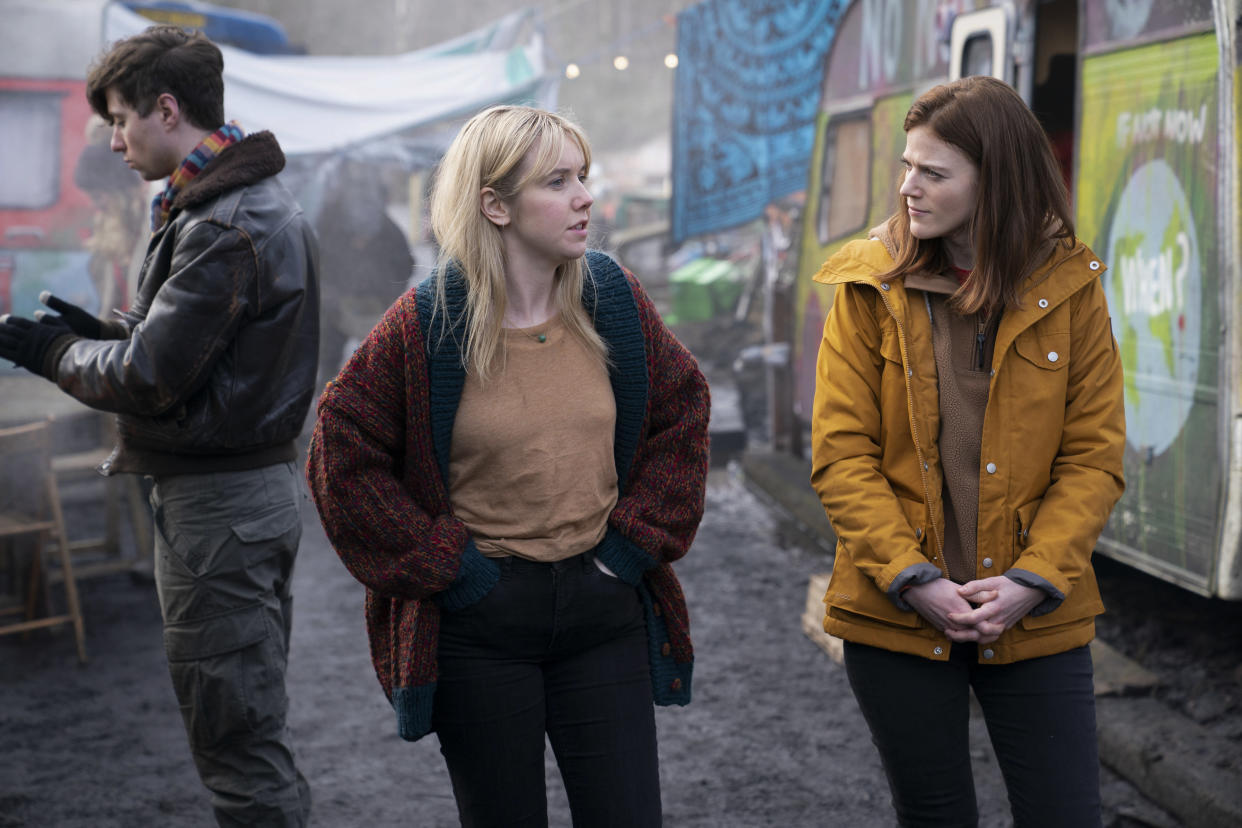WARNING: Embargoed for publication until 00:00:01 on 24/08/2021 - Programme Name: Vigil - TX: n/a - Episode: n/a (No. 2) - Picture Shows:  Jade (LAUREN LYLE), Kirsten Longacre (ROSE LESLIE) - (C) World Productions - Photographer: Mark Mainz