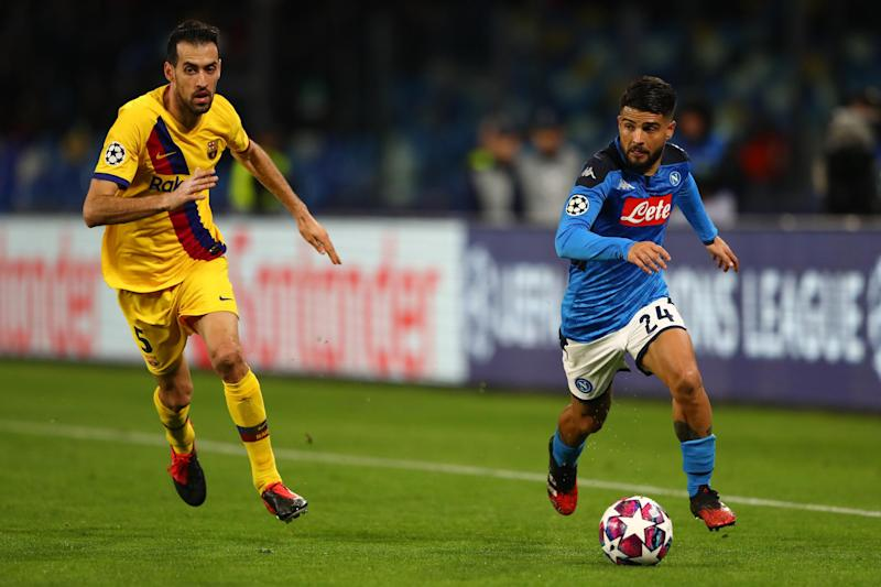 Napoli head to Barcelona for the second leg: Getty Images
