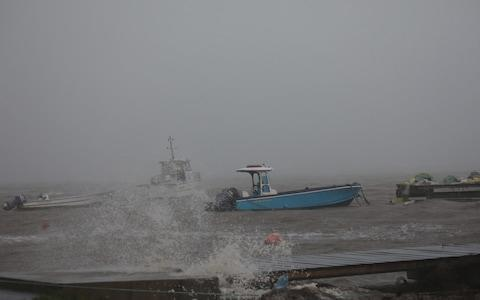 Boats remain anchored in a wharf as Hurricane Maria approaches in Guadeloupe island - Credit: Reuters
