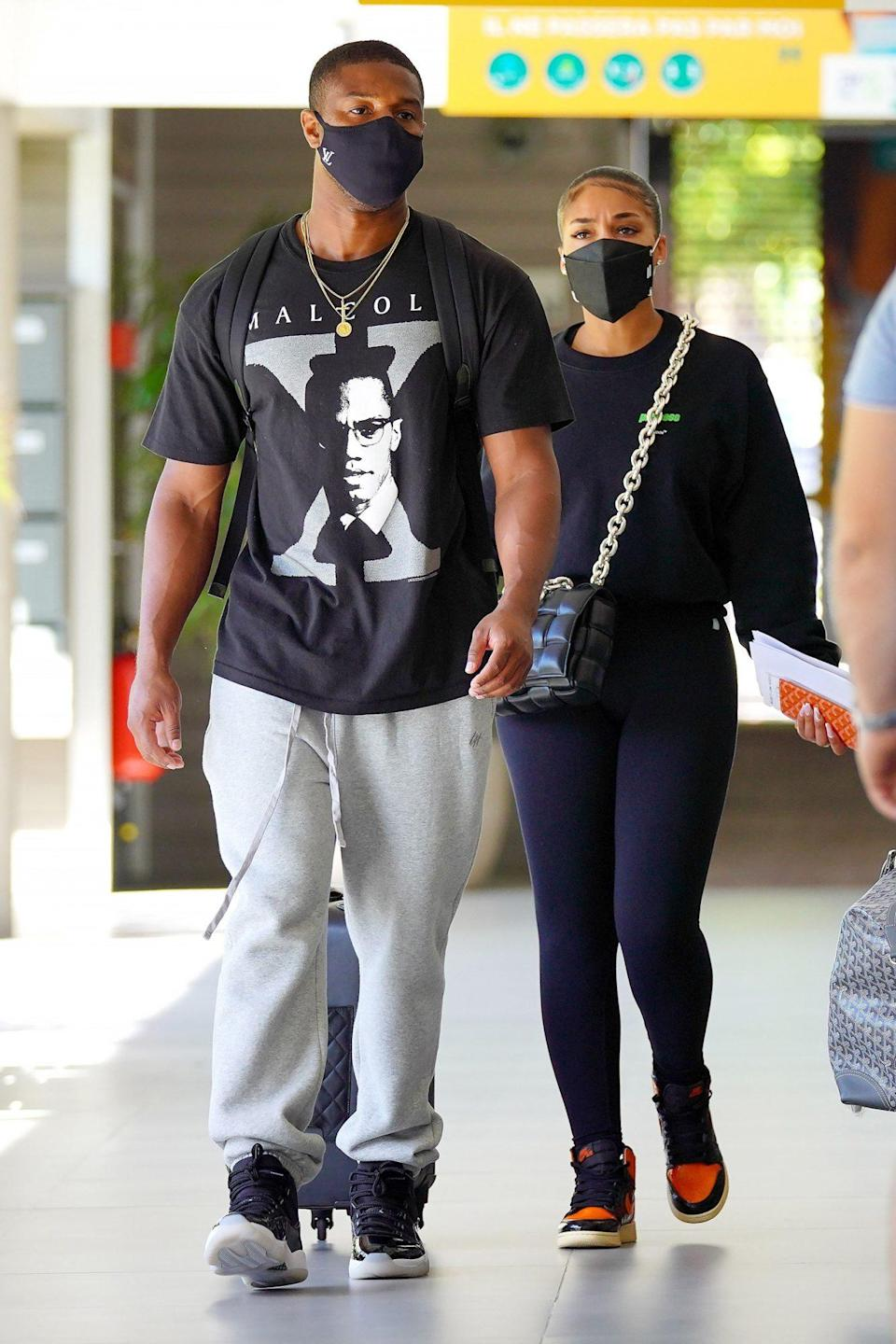 <p>Michael B. Jordan and Lori Harvey depart St. Bart's on Thursday after wrapping up their tropical vacation.</p>