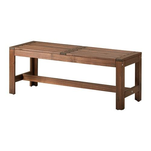 ?PPLAR? Bench, outdoor, brown stained brown