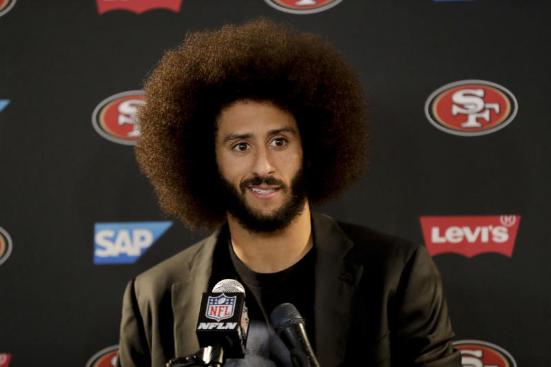 An NFL spokesman said he's looking forward to Colin Kaepernick's involvement in the next round of talks between players and owners about social activism. (AP)