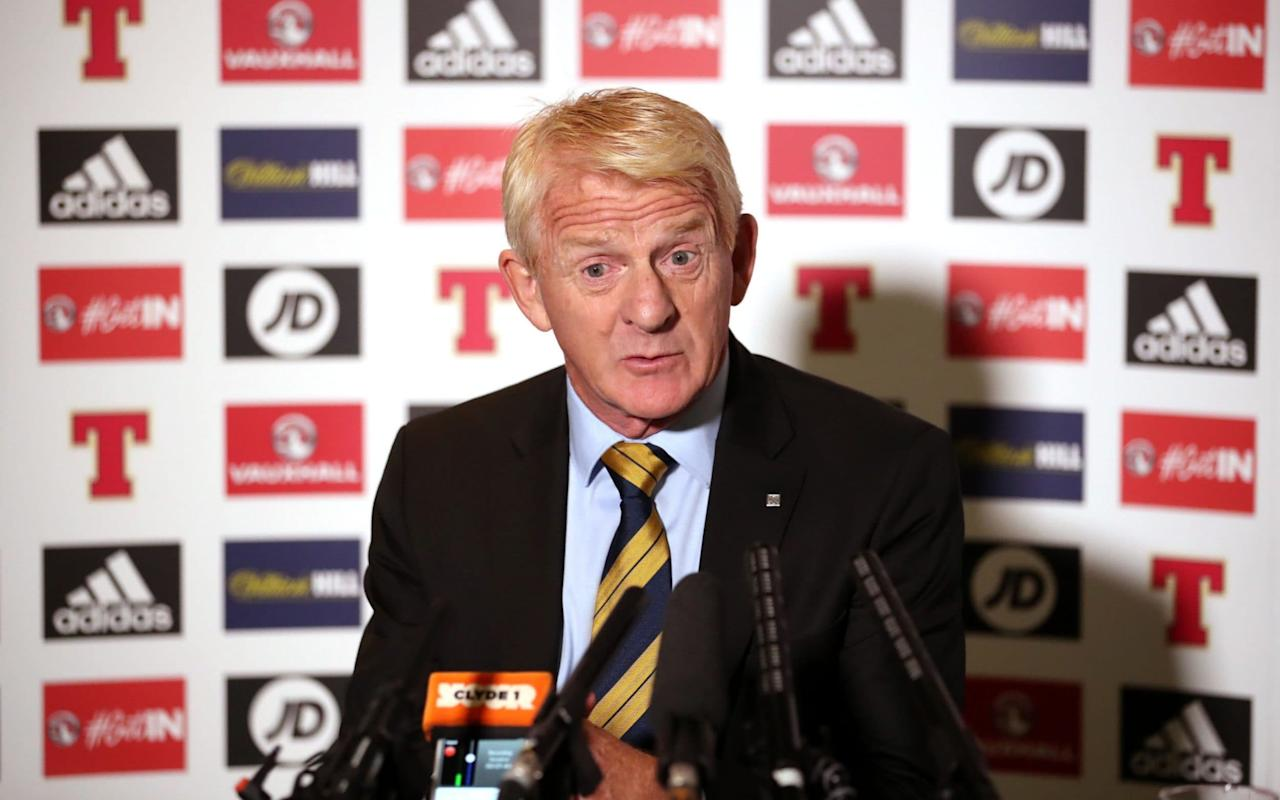 """Gordon Strachan could still be Scotland manager in 2020 if his players qualify for the World Cup finals in Russia. The Scots must beat Slovakia and Slovenia and negotiate the play-offs to book a place in next summer's tournament climax and, although Strachan would not be drawn on specifics, he hinted strongly that he could have another campaign in him if the current process is successful. """"It all depends on a lot of things but I'd rather give that a body swerve just now so I can really enjoy what's coming up,"""" he said. """"It's going to be just a fantastic, fantastic occasion. It's one of these things where you go, 'Right, I'm looking forward to that'. """"The excitement has started already. Once I flew up here this morning to name the squad and you get ready to go, it really is exciting. """"To be able to take them, the players, the staff and all the rest would be just fantastic. But you know how hard this is going to be. The two hurdles are very hard."""" Strachan made his comments after announcing a 26-man squad for the double header against Slovakia, at Hampden Park on October 5 and Slovenia in Ljublijana three days later. One notable return was that of Liam Cooper, whose contribution to the Leeds United central defence has helped the Elland Road side top the Championship in England with only a single defeat in nine outings. Scotland face a stiff task to make it to the 2018 World Cup Credit: pa """"He's playing well in a winning side,"""" Strachan said. """"He's a big influence, he's captain there now and that's big progress for Leeds and himself. I probably should have had him in the last squad to be honest so I made sure I didn't make the same mistake again."""" Also back in the reckoning are Stoke City's Darren Fletcher and his Sheffield Wednesday namesake, Steven, as well as the Millwall goalkeeper, Jordan Archer. Russell Martin and Steven Naismith were omitted because they have not been starting at Norwich City. """"They would like to be included but at the moment they know, and I kn"""