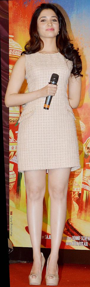 South star Tamanna Bhatia makes her grand Bollywood debut this year opposite Ajay Devgan in Himmatwala. Those are some mighty big shoes this young star has to fill out huh?