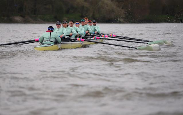 <span>The Boat Race takes place on Sunday</span>