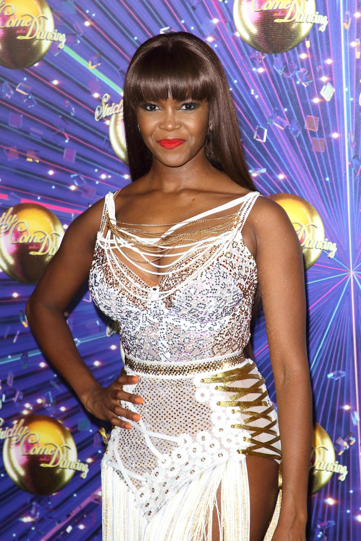 Oti Mabuse at the Strictly Come Dancing Launch at BBC Broadcasting House in London. (Photo by Keith Mayhew/SOPA Images/LightRocket via Getty Images)