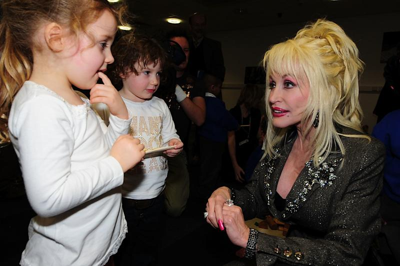 "Parton wrote the song ""Chemo Hero"" for a niece, Hannah Dennison, who had leukemia when she was 4.  (Pool via Getty Images)"