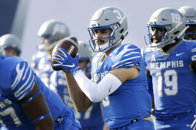 Memphis quarterback Brady White and the Tigers are in a New Year's Six bowl for the first time. (AP Photo/Mark Humphrey)