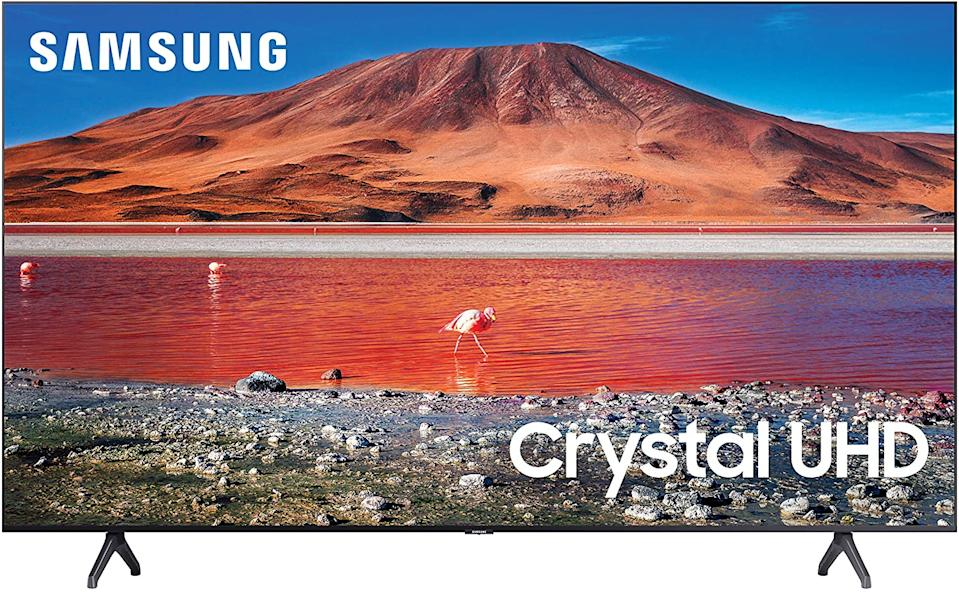"Samsung 43"" TU7000 4K Ultra HD HDR Smart TV. Image via Amazon."
