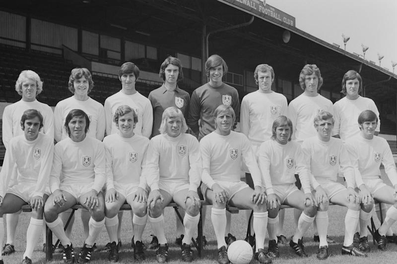 Back in the day: Bryan King with his Millwall team-mates (fourth from right, back row): Getty Images