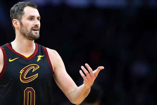 Kevin Love denied a report of a Jimmy Butler-esque outburst, but admitted he could have behaved better recently. (Maddie Meyer/Getty Images)