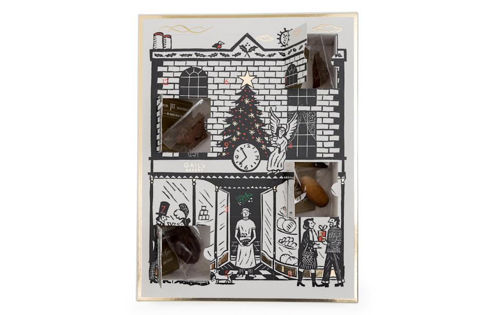 """<p>One of London's top artisan bakeries has introduced its first ever advent calendar. Surprisingly, it's not full of baked delights. Instead, the bakery has collaborated with top chocolatier Alex Mariz to produce 24 bread-inspired choccies.<br><a rel=""""nofollow noopener"""" href=""""https://gailsbread.co.uk/"""" target=""""_blank"""" data-ylk=""""slk:GAIL's, £30"""" class=""""link rapid-noclick-resp""""><i>GAIL's, £30</i></a> </p>"""