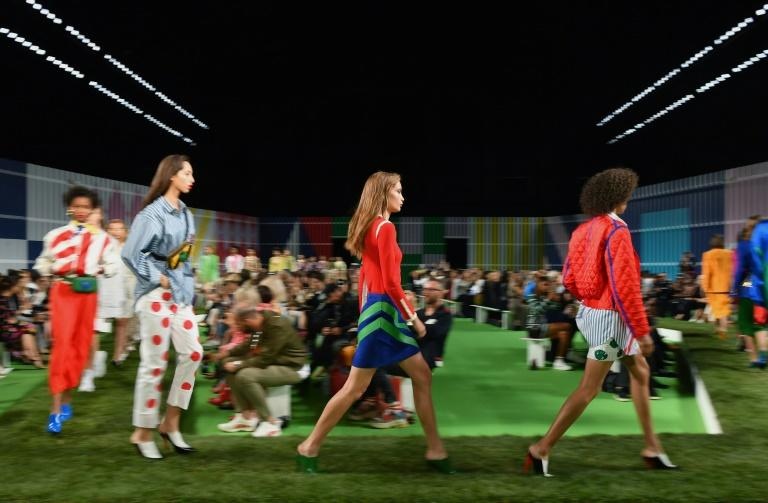 Models walk the runway for the Escada Spring/Summer 2019 show during New York Fashion Week on September 9, 2018