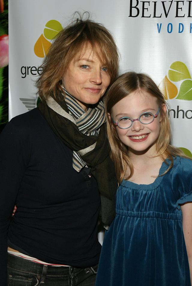 <p>Child actress turned Oscar winner Jodie Foster posed with 9-year-old Elle Fanning at the premiere of Fanning's movie <em>Phoebe in Wonderland. </em>(Photo: Frazer Harrison/Getty Images) </p>