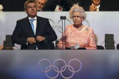 Queen at Olympic ceremony