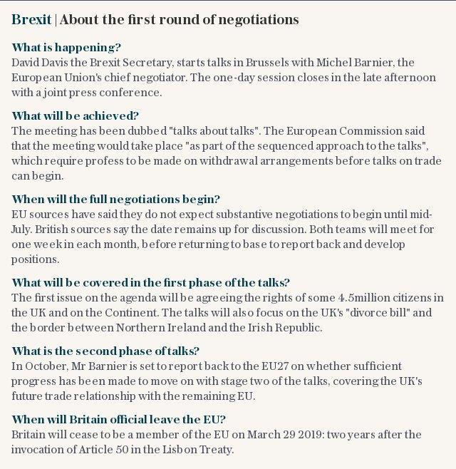 Brexit | About the first round of negotiations