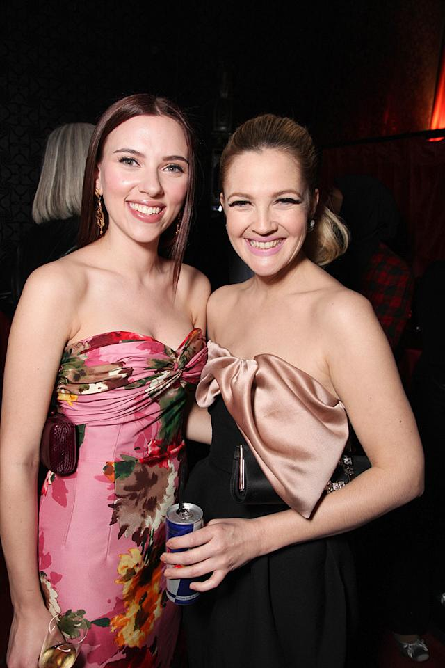 "<a href=""http://movies.yahoo.com/movie/contributor/1800022348"">Scarlett Johansson</a> and <a href=""http://movies.yahoo.com/movie/contributor/1800016287"">Drew Barrymore</a> at the Los Angeles premiere of <a href=""http://movies.yahoo.com/movie/1809932969/info"">He's Just Not That Into You</a> - 02/02/2009"