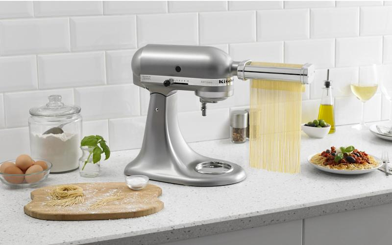 An add-on to the KitchenAid Mixer that turns weekend cooking into a cheery family event. (Photo: Walmart)