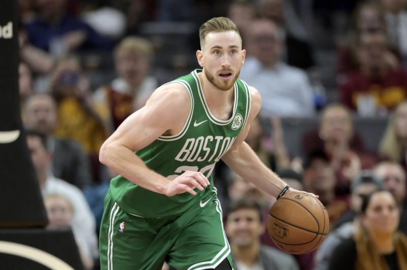 Boston Celtics forward Gordon Hayward (20)