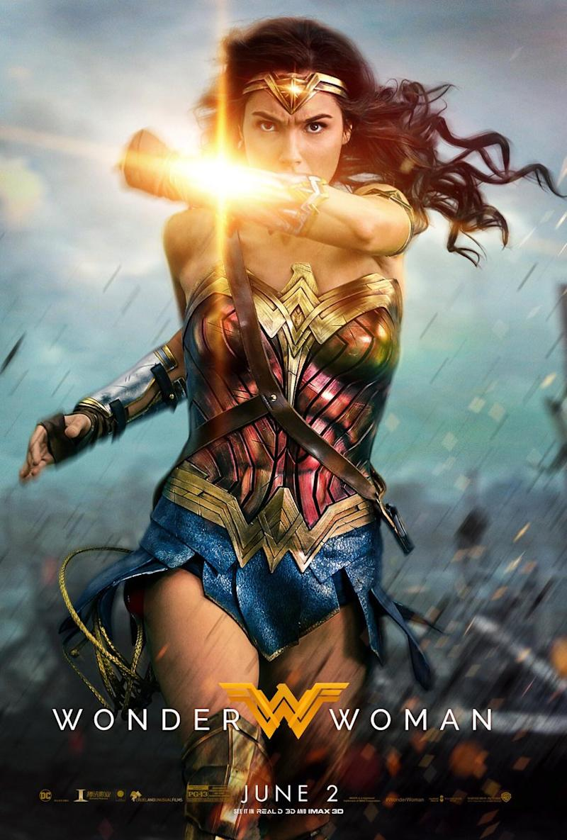 The latest poster for long-awaited comic book movie 'Wonder Woman' (credit: Warner Bros)