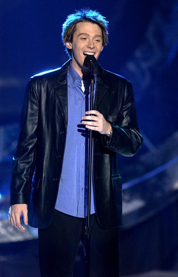"Clay Aiken at the season 2 ""American Idol."" finale."