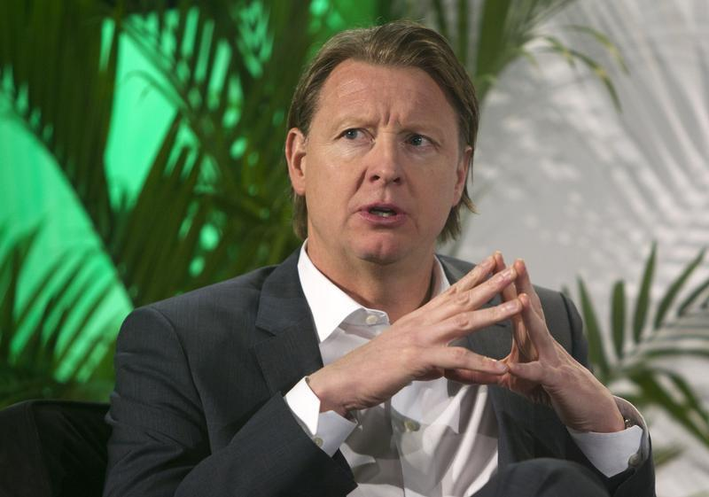 Hans Vestberg, president/CEO of Ericsson Group, speaks during a panel discussion at the 2014 International Consumer Electronics Show (CES) in Las Vegas