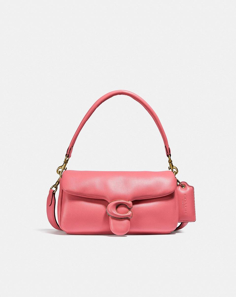 <p>We're obsessing over the new <span>Coach Pillow Tabby Shoulder Bag 26</span> ($495).</p>