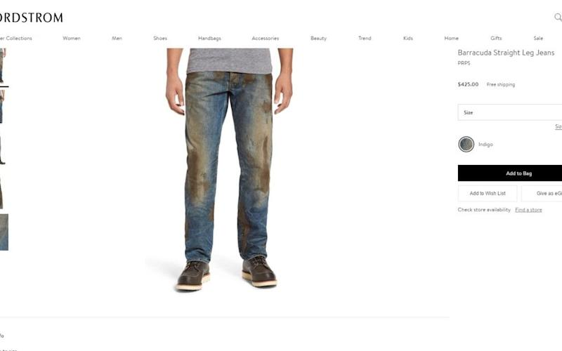Distressed jeans by Nordstrom from their website http://shop.nordstrom.com/