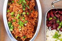 """<p>Let this red beans and rice recipe be the first of many <a href=""""https://www.thedailymeal.com/cook/louisiana-cajun-creole-mardi-gras-recipes?referrer=yahoo&category=beauty_food&include_utm=1&utm_medium=referral&utm_source=yahoo&utm_campaign=feed"""" rel=""""nofollow noopener"""" target=""""_blank"""" data-ylk=""""slk:Creole and Cajun dishes"""" class=""""link rapid-noclick-resp"""">Creole and Cajun dishes</a> you try recreating at home. Serve it up alongside a batch of freshly baked cornbread. </p> <p><strong><a href=""""https://www.thedailymeal.com/best-recipes/red-beans-rice-cajun-creole?referrer=yahoo&category=beauty_food&include_utm=1&utm_medium=referral&utm_source=yahoo&utm_campaign=feed"""" rel=""""nofollow noopener"""" target=""""_blank"""" data-ylk=""""slk:For the Claw Daddy's Red Beans and Rice recipe, click here."""" class=""""link rapid-noclick-resp"""">For the Claw Daddy's Red Beans and Rice recipe, click here.</a></strong></p>"""