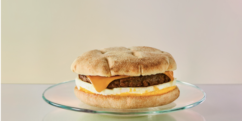 Beyond Meat, Cheddar and Egg Sandwich