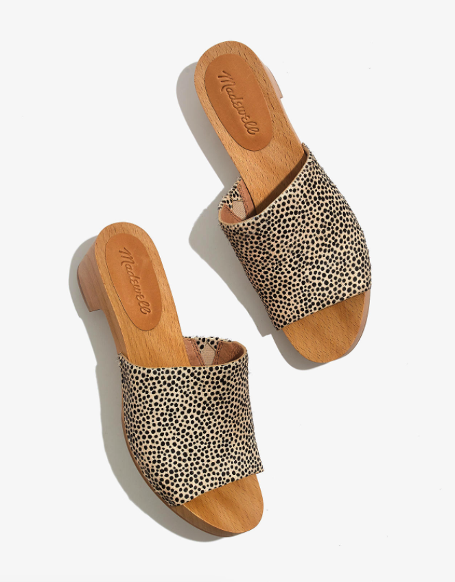 """<br> <br> <strong>Madewell</strong> The Evelyn Slide Clog in Calf Hair, $, available at <a href=""""https://go.skimresources.com/?id=30283X879131&url=https%3A%2F%2Fwww.madewell.com%2Fthe-evelyn-slide-clog-in-calf-hair-AM209.html"""" rel=""""nofollow noopener"""" target=""""_blank"""" data-ylk=""""slk:Madewell"""" class=""""link rapid-noclick-resp"""">Madewell</a>"""