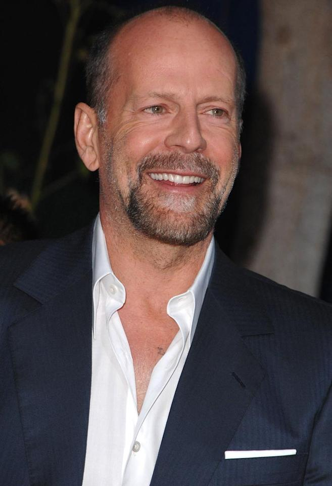 """<a href=""""http://movies.yahoo.com/movie/contributor/1800018749"""">Bruce Willis</a> at the Los Angeles Premiere of <a href=""""http://movies.yahoo.com/movie/1809921361/info"""">The House Bunny</a> - 08/20/2008"""