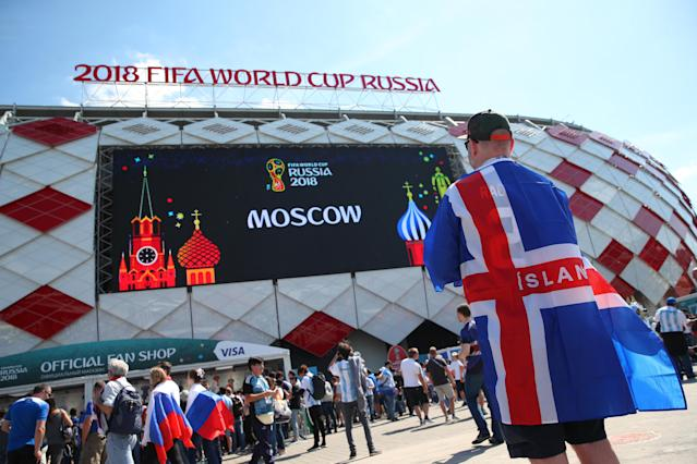<p>The big moment gets closer for the Iceland fans as they get ready to make some noise (getty) </p>