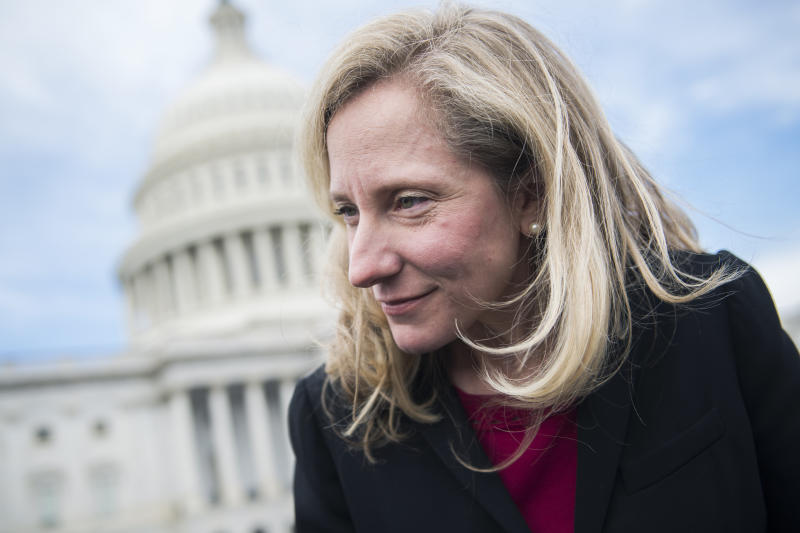 Rep.-elect Abigail Spanberger, D-Va., is seen after the freshman class photo on the East Front of the Capitol on Nov. 14, 2018. (Photo: Tom Williams/CQ Roll Call/Getty Images)