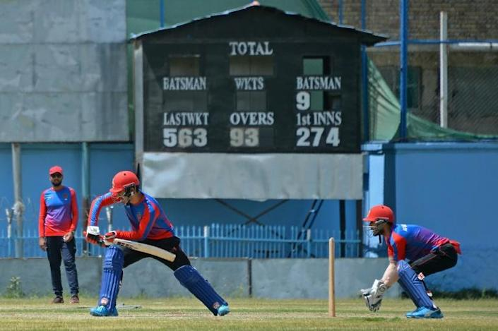 Afghanistan's men's team train in Kabul. The former Afghan women's cricket chief is pleading with international teams not to punish them by boycotting matches if the the Taliban ban women's sport (AFP/HOSHANG HASHIMI)