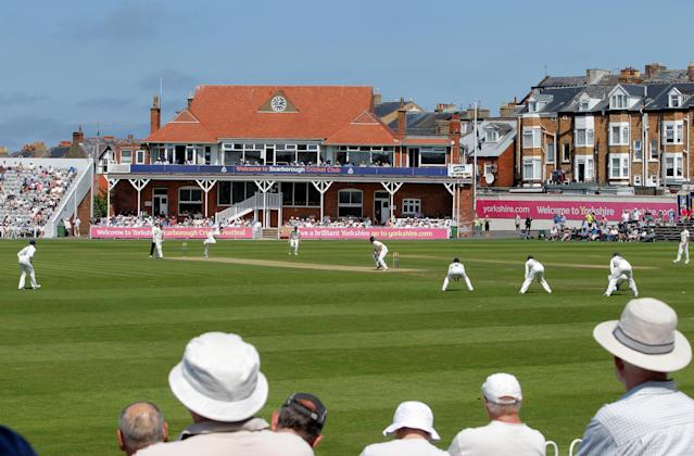 SCARBOROUGH, ENGLAND - JULY 22: Action at North Marine road during day four of the LV County Championship division One match between Yorkshire and Middlesex on July 22, 2014 in Scarborough, England. (Photo by Richard Sellers/Getty Images)