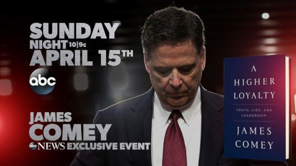 Photo James Comey Gives His First Interview With George Stephanopoulos Abc News