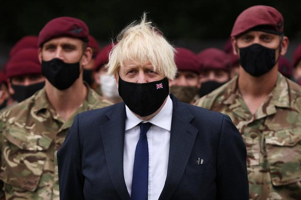 Prime Minister Boris Johnson meets members of 16 Air Assault Brigade at the Brigade Headquarters at Merville Barracks in Colchester, Essex, following their recent deployment to Afghanistan (Dan Kitwood/PA) (PA Wire)