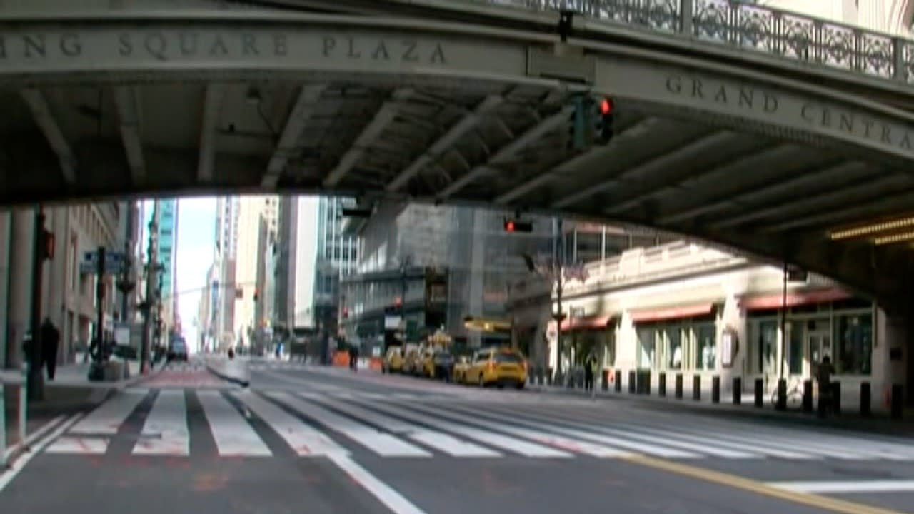 NYC streets empty amid coronavirus pandemic Video