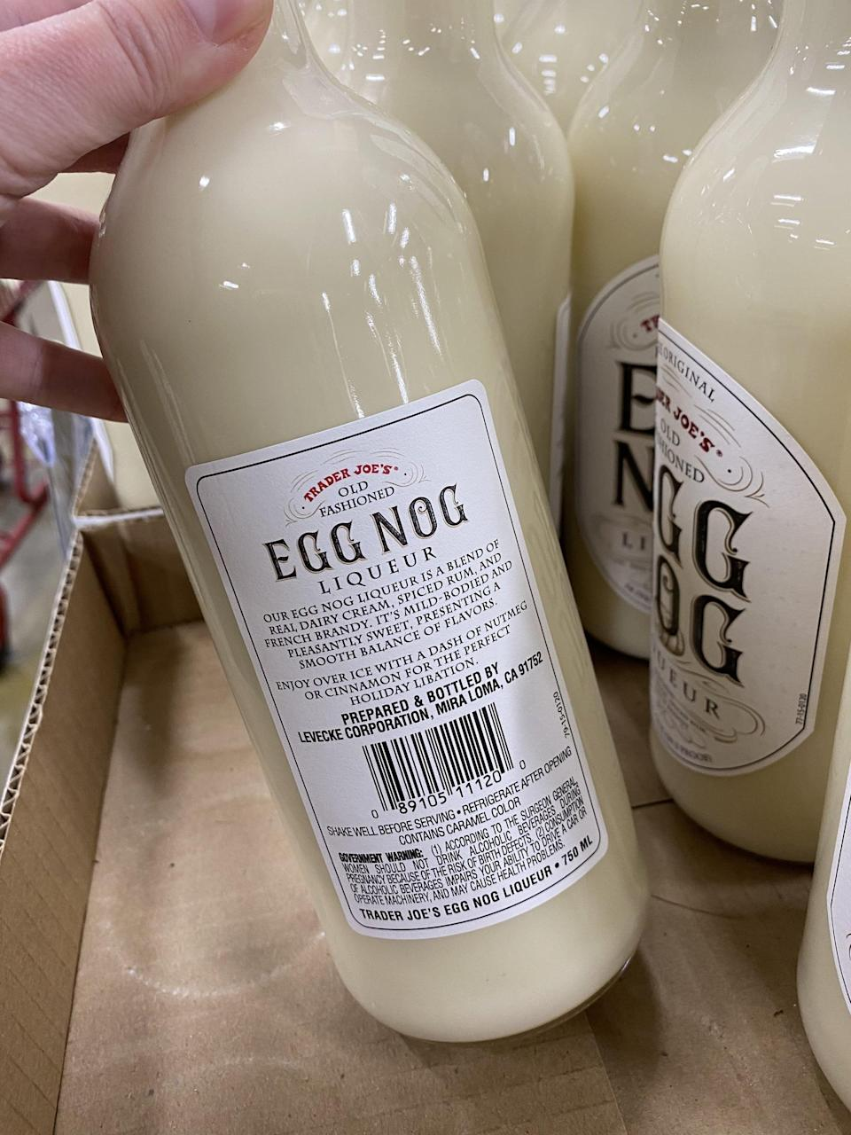 Trader Joe's Is Selling Bottles of Eggnog Liqueur For $8, So Cheers to That