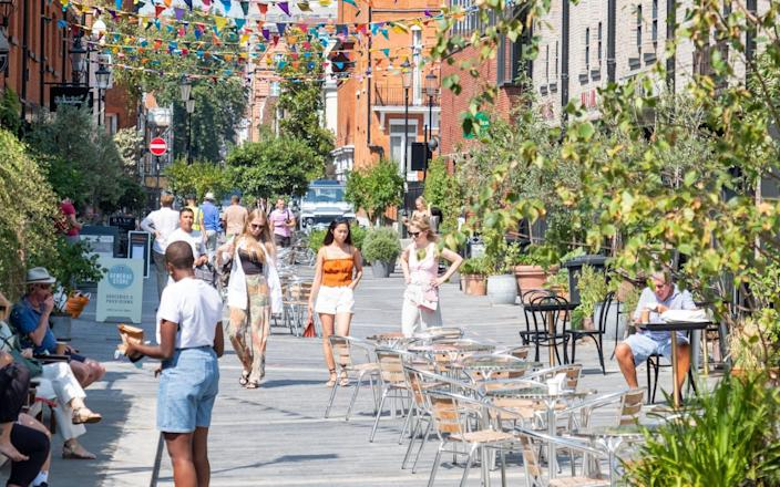Pavilion Road in Chelsea has been permanently pedestrianised to allow more alfresco dining - William Barton