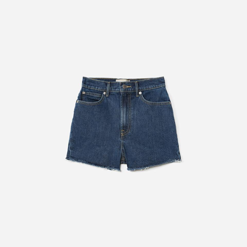 The Way-High Jean Short in Washed Midnight (Photo via Everlane)