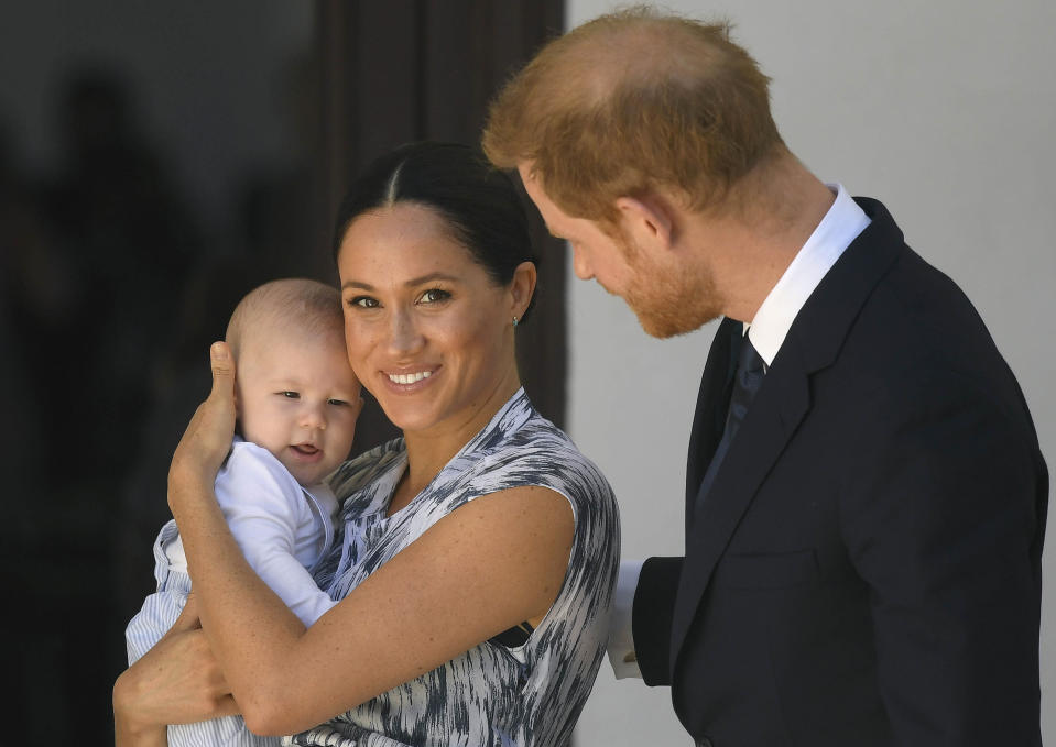 Prince Harry Meghan Markle and their son, Archie