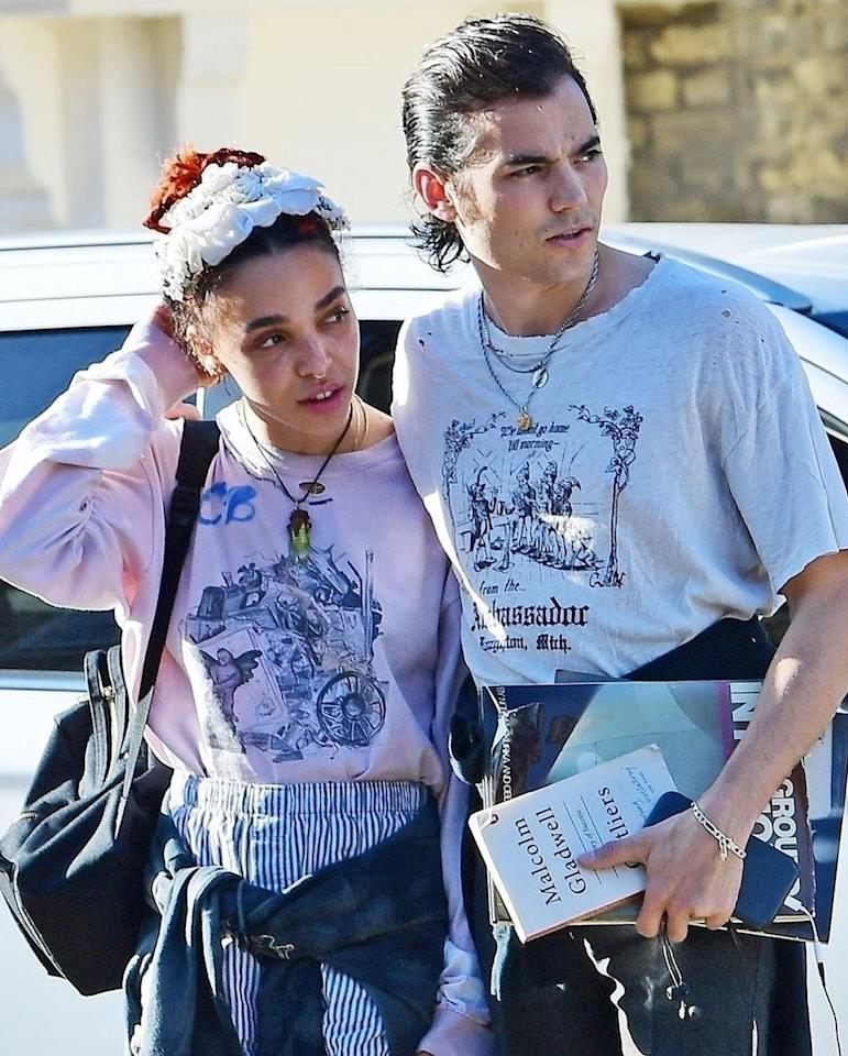 Slicked jet-black hair with a big, old, dirty swoop in the back. We don't know if Reuben Esser is as cool as FKA Twigs, but his hair certainly is.