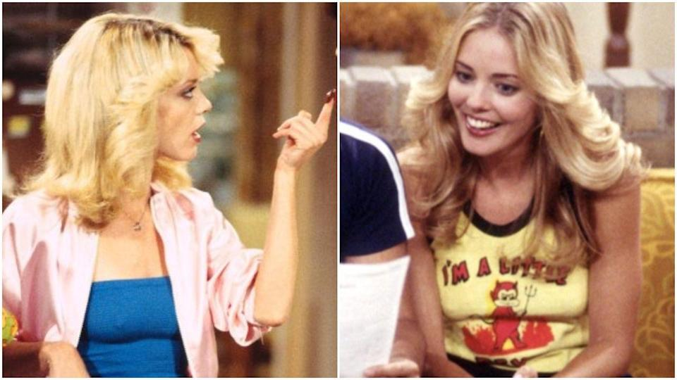 """<p>Sadly, Christina Moore took over for Lisa Robin Kelly due to Lisa's self-admitted drinking problem. """"With <em>That '70s Show</em>, I was guilty of a drinking problem,"""" she told <a href=""""https://abcnews.go.com/blogs/entertainment/2012/04/lisa-robin-kelly-of-that-70s-show-seeks-comeback/"""" rel=""""nofollow noopener"""" target=""""_blank"""" data-ylk=""""slk:ABC"""" class=""""link rapid-noclick-resp"""">ABC</a>. """"And I ran.""""</p>"""