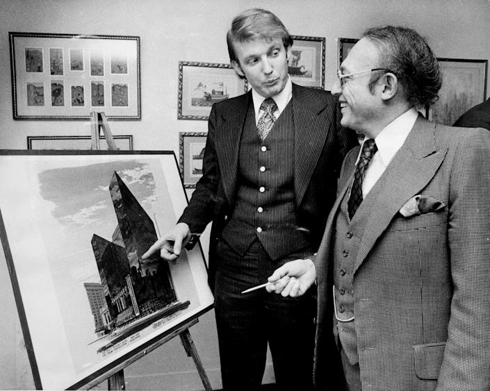 Donald Trump and Alfred Eisenpreis, New York City Economic Development administrator, discuss the renovation of the Commodore Hotel. (Photo: NY Daily News Archive via Getty Images)